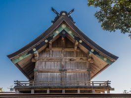 Dach im Izumo Taisha Schrein