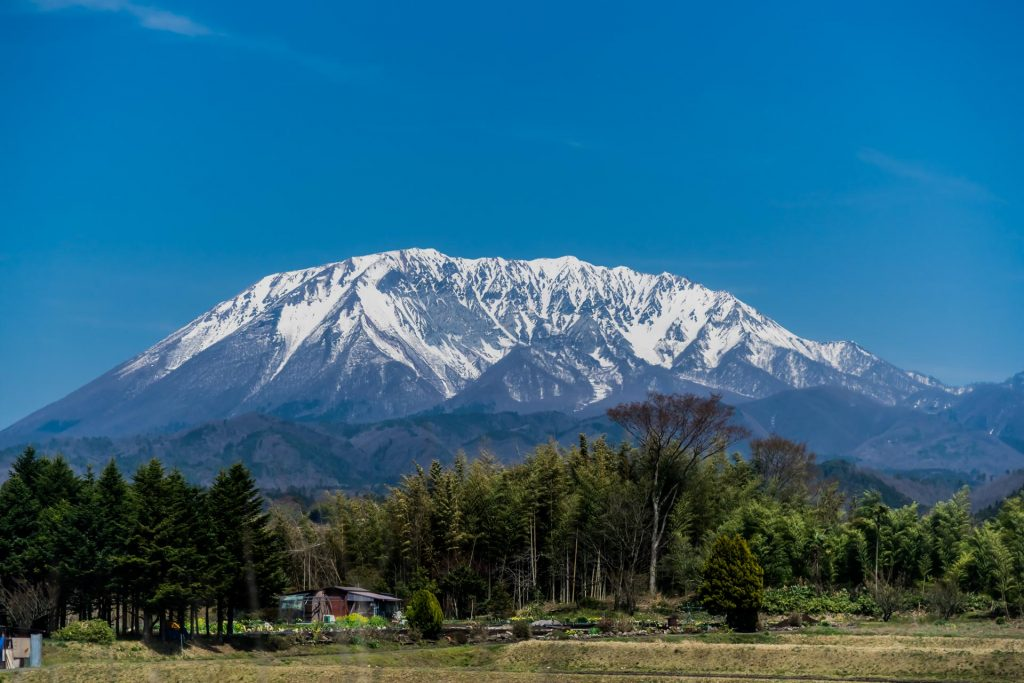 Berge im Daisen-Oki-Nationalpark in Japan