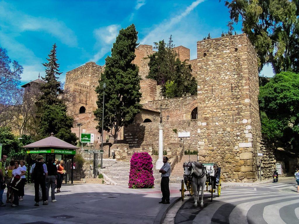 Die Wohnburg der Mauren in Malaga