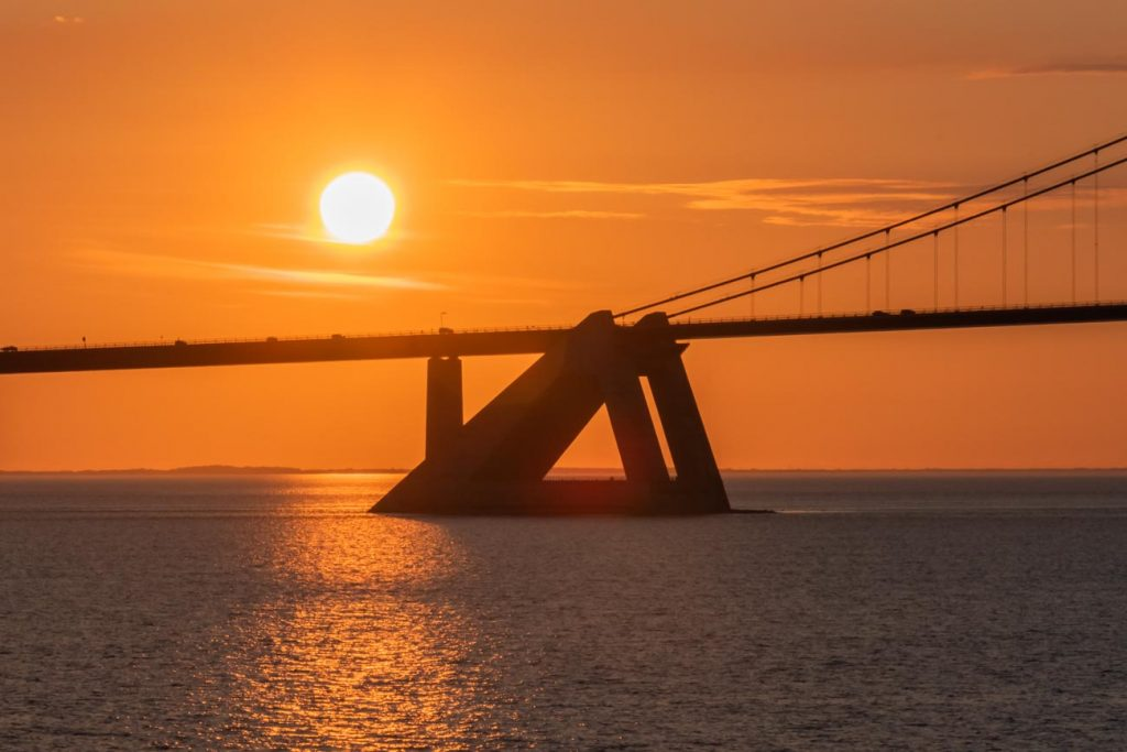 Ein Pylon an der Öresundbrücke