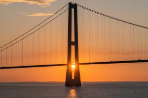 Sonnenuntergang an der Öresundbrücke