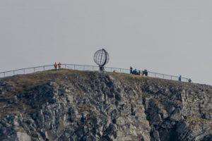 Die Weltkugel auf dem Nordkap