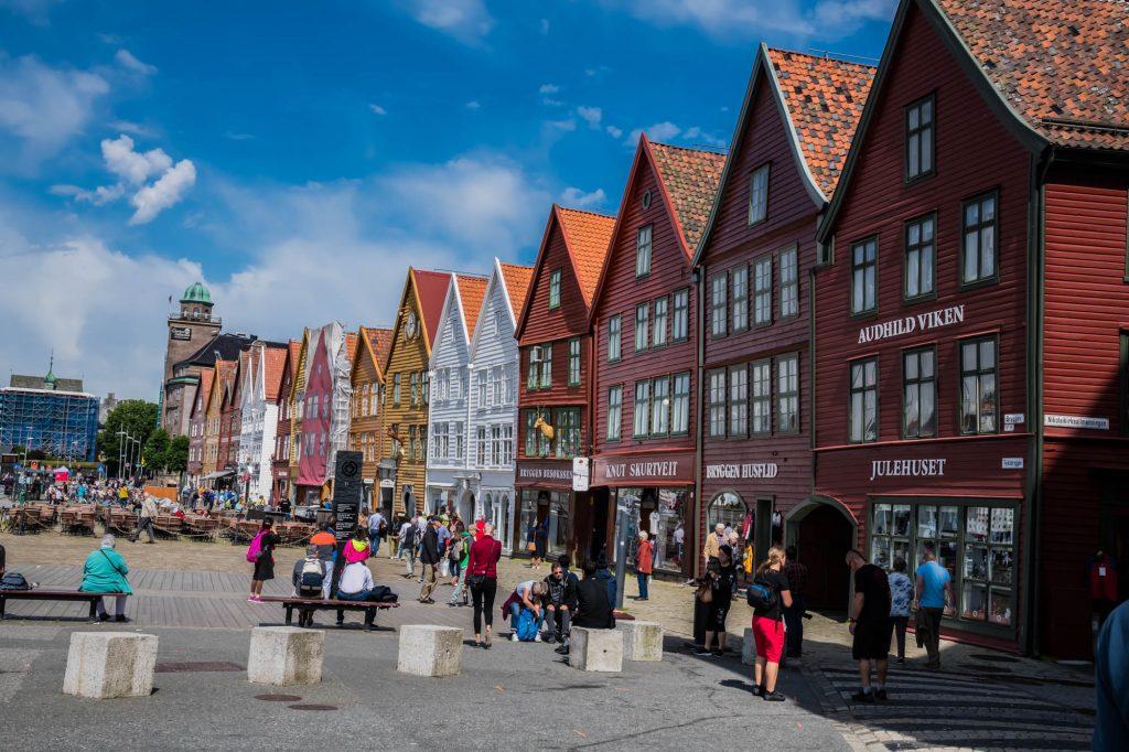 Bryggen, die hanseatischen Handelshäuser