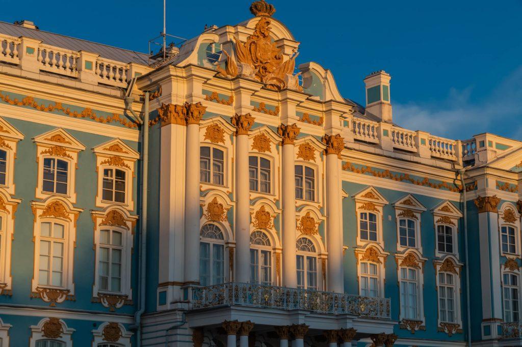Katharinenpalast bei Sonnenuntergang