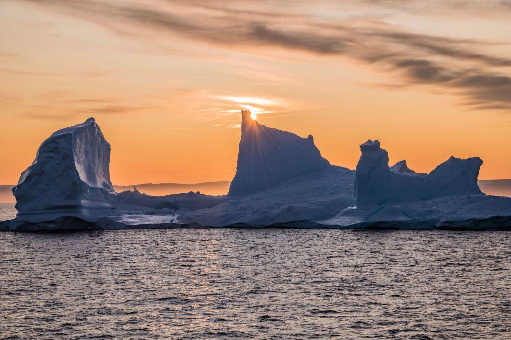 Abendsonne im Eisfjord auf Grönland