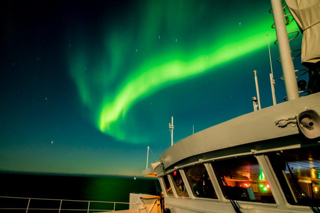 Polarlichter auf MS Ocean Majesty in Island