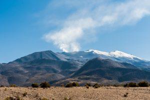 Aktiver Vulkan in den Anden