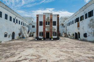 Todeszelle im Hof von Fort Elmina in Ghana