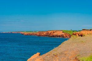 Rote Küste auf der Île-du-Cap-aux-Meules