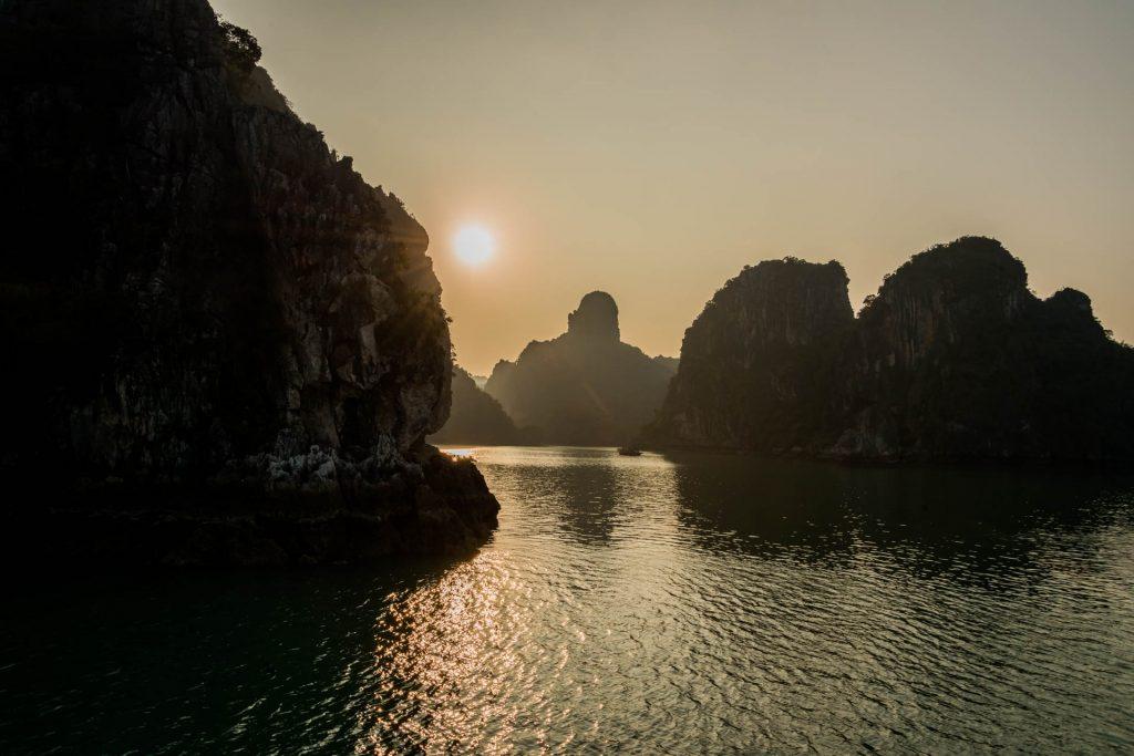 Sonnenuntergang Halong
