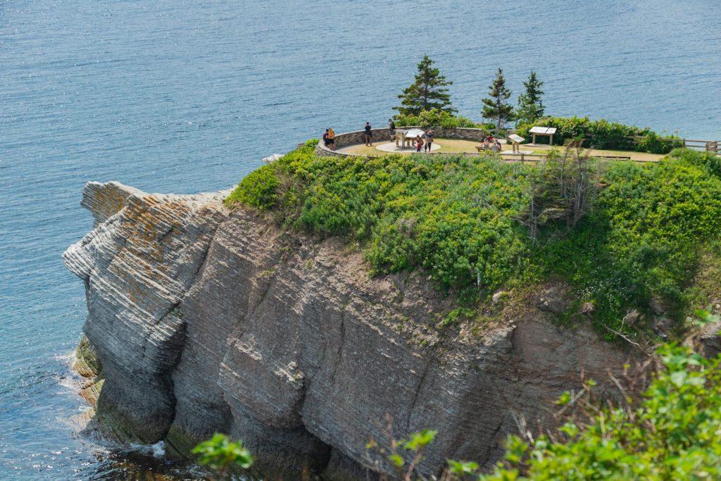Aussichtspunkt auf der Batterie am Fort Peninsula auf der Halbinsel Gaspé