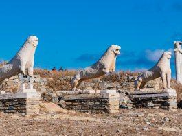 Löwen auf Delos