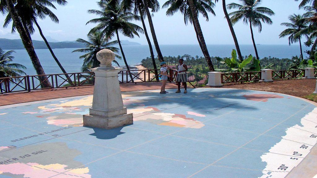 Äquator in Sao Tome und Principe