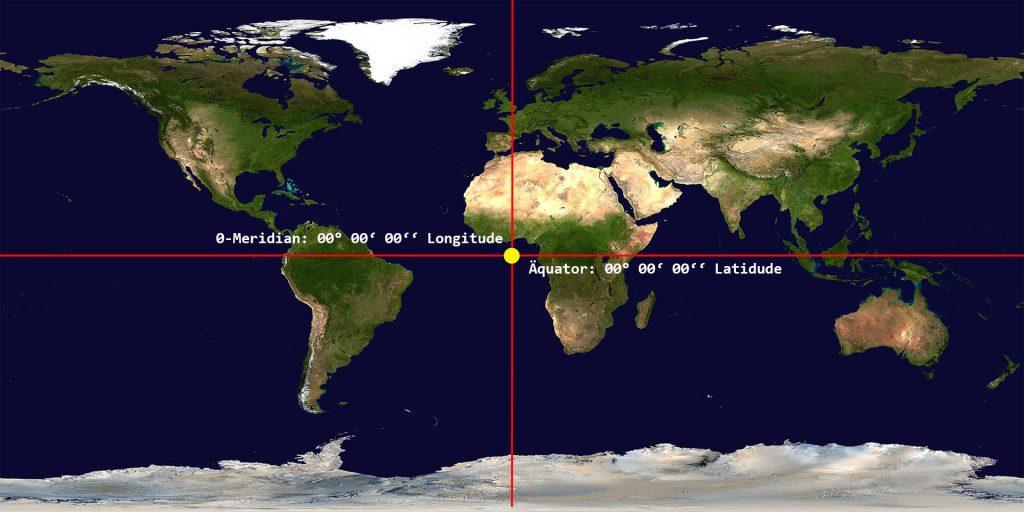 Geografischer Nullpunkt: Die Karte