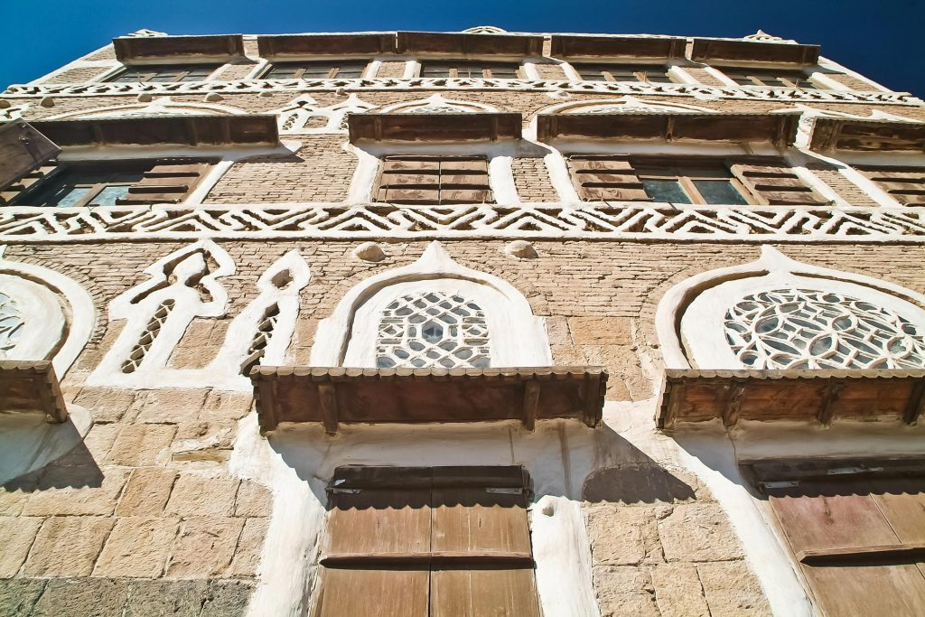 Fassade des Dar al-Hajar im Wadi Dhar