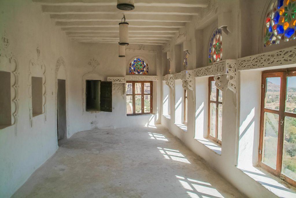 Wohnraum im Dar al-Hajar im Wadi Dhar