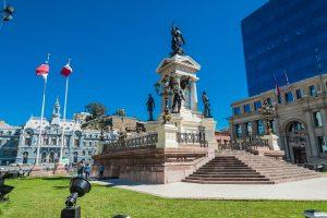 Denkmal der Helden von Iquique am Plaza Sotomayor Valparaiso