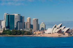 Skyline von Sydney mit Sydney Oper
