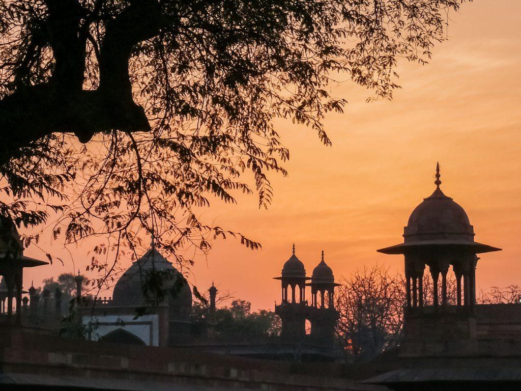 Abendstimmung am Taj Mahal