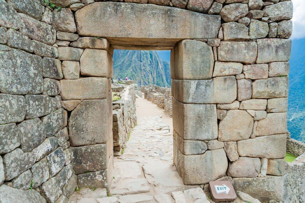 Stadttor in Machu Picchu