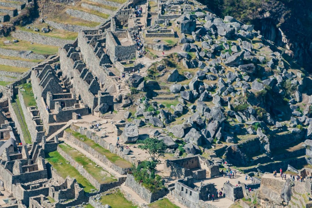 Der heilige Platz in Machu Picchu