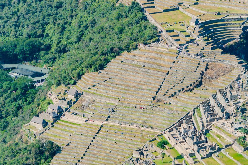 Die landwirtschaftlichen Terrassen der Inka