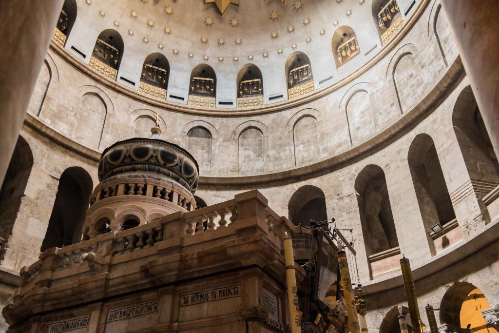 Das Grab Jesu in der Grabeskirche Jerusalem