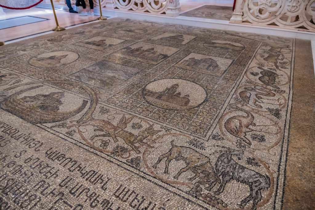 Mosaik in der Helena-Kapelle in der Grabeskirche