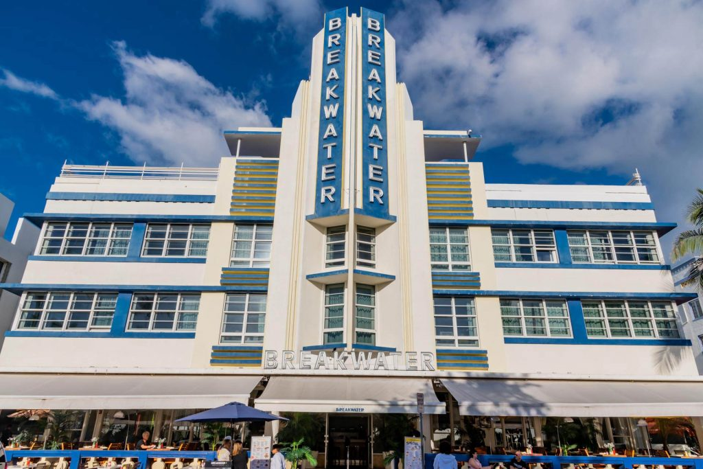 Breakwater Hotel im Art Deco District in Miami Beach