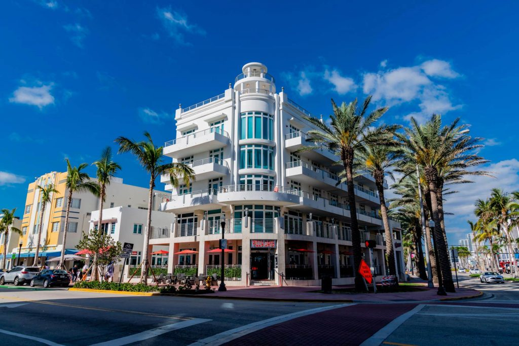 Art Deco Distirct in Miami Beach