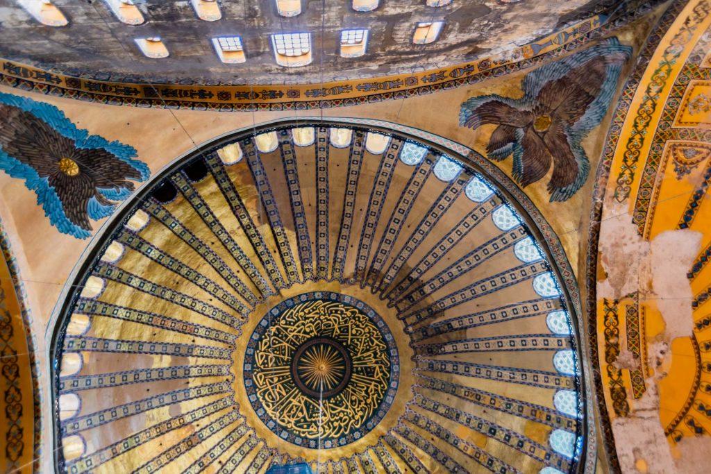 Hauptkuppel der Hagia Sophia in Istanbul