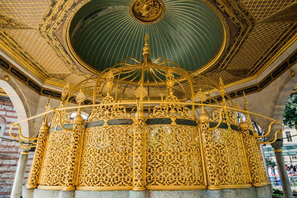 Moscheebrunnen der Hagia Sophia in Istanbul
