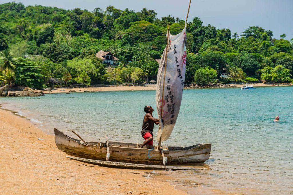 Am Strand von Bosy Komba in Madagaskar