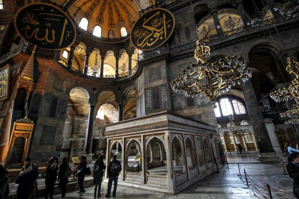 Podest des Muezzin in der Hagia Sophia