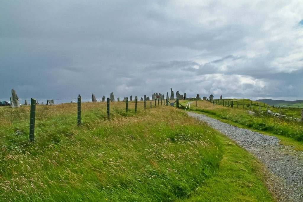 Weg zu den Stones of Callanish