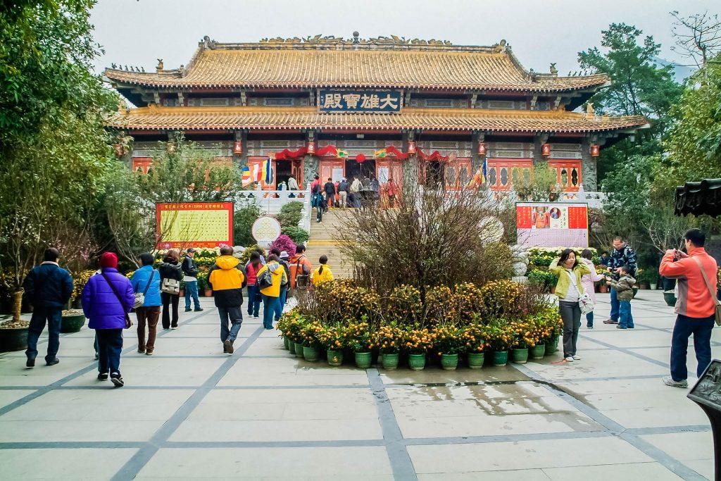 Kloster Po Lin auf Lantau in Hongkong