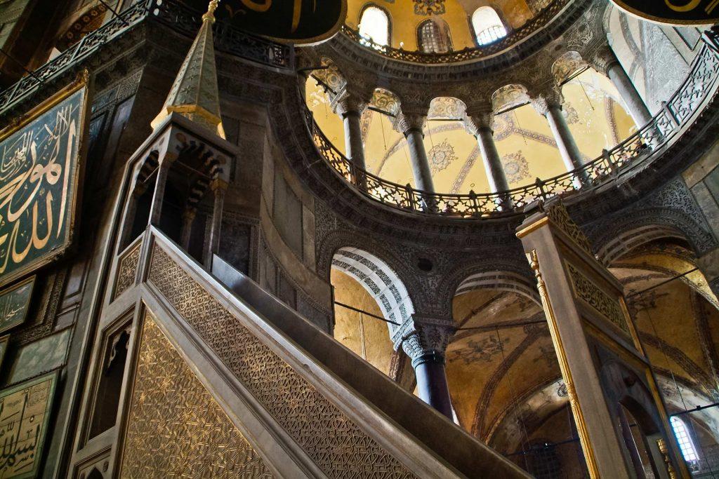 Minbar in der Kirche der heiligen Weisheit in Istanbul