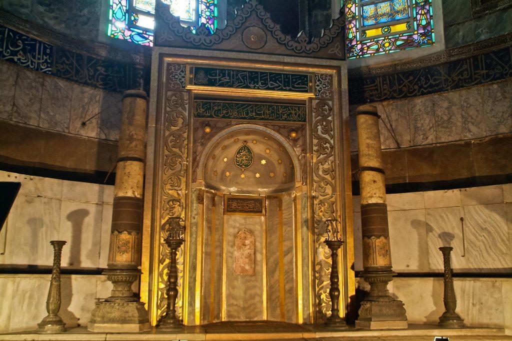 Mihrab in der Sophienkirche in Istanbul