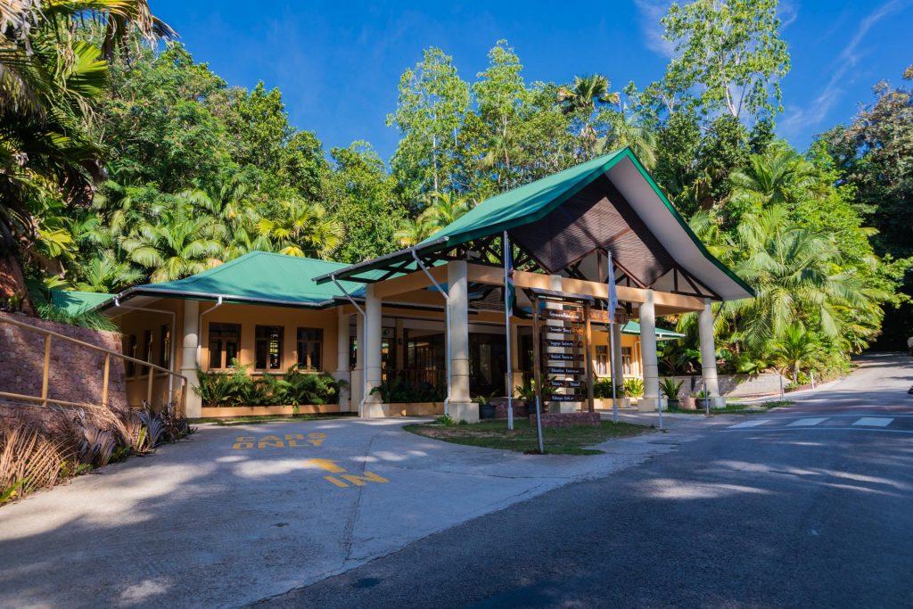 Besucherzentrum im Vallée de Mai auf Praslin