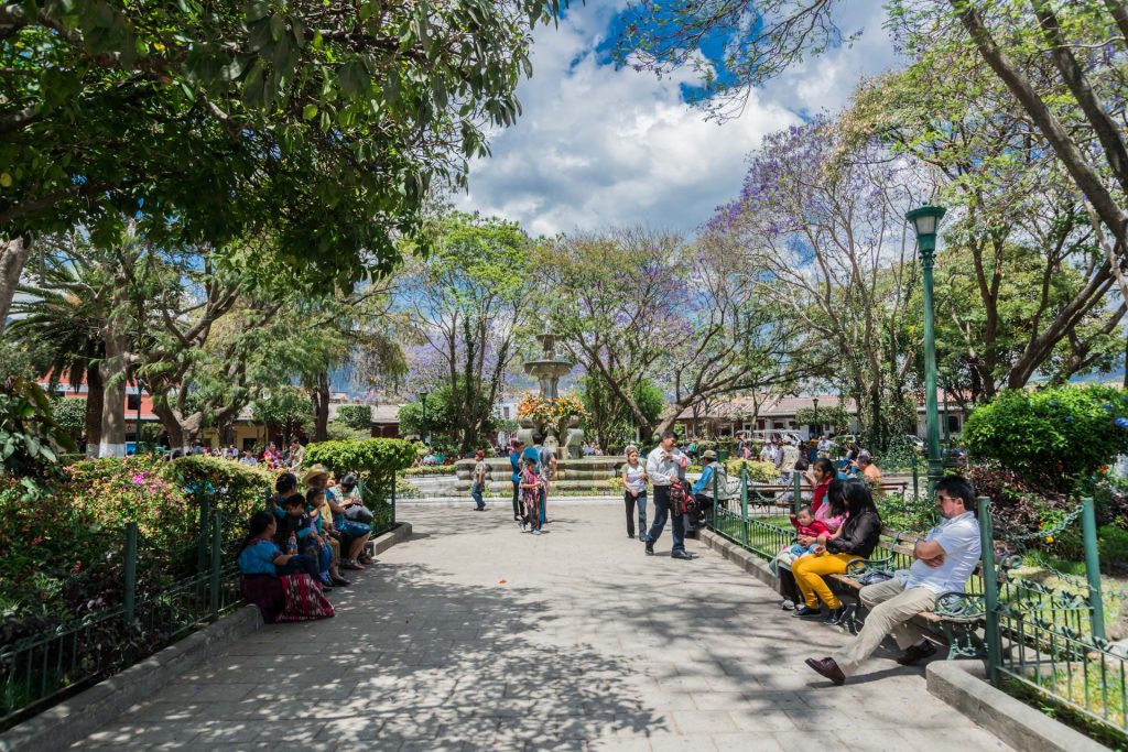 Plaza Central in Antigua