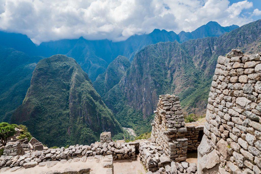 Aussicht von Machu Picchu auf die Anden