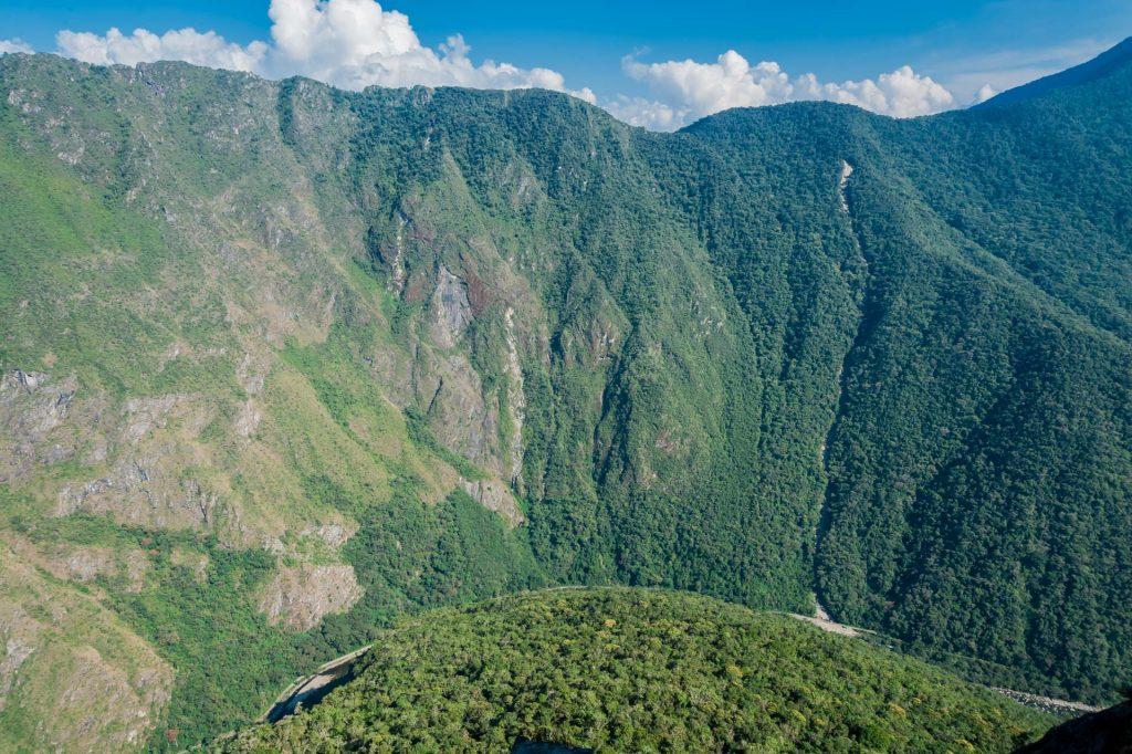 Aussicht auf das Urubambatal in Peru