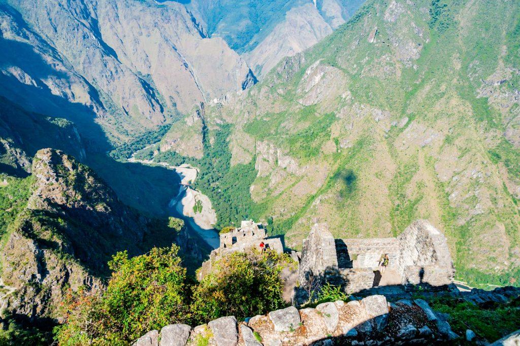 Das Urubambatal vom Huayna Picchu aus