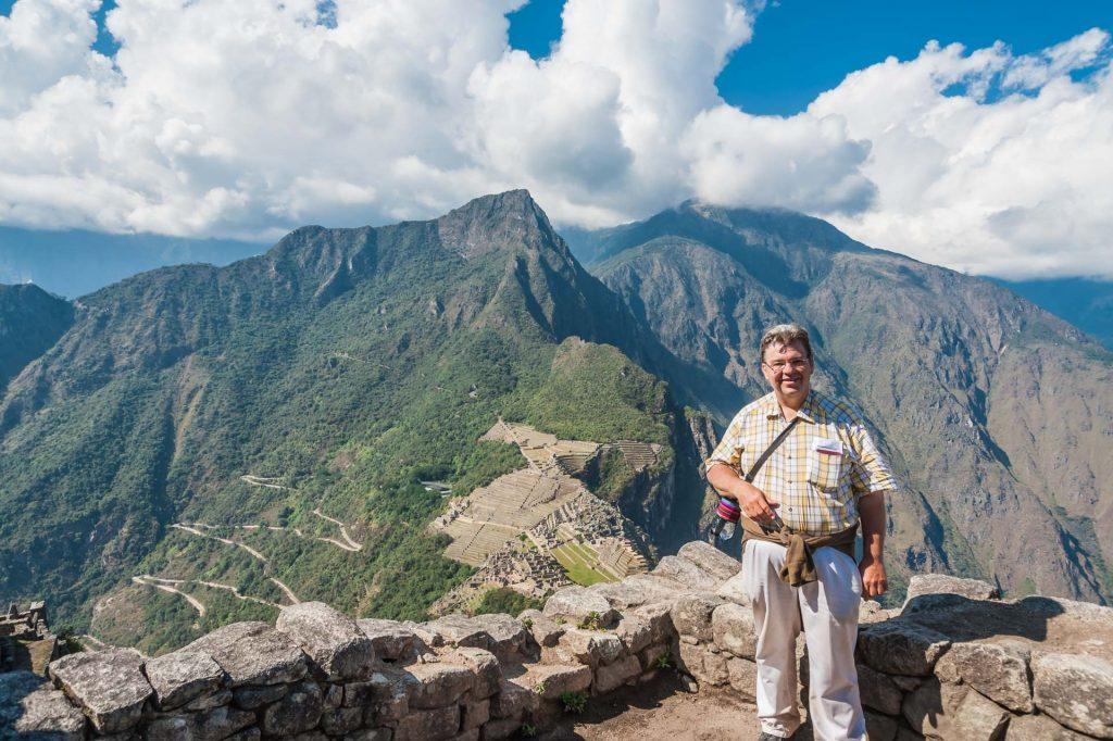 Peter Jurgilewitsch auf dem Huayna Picchu