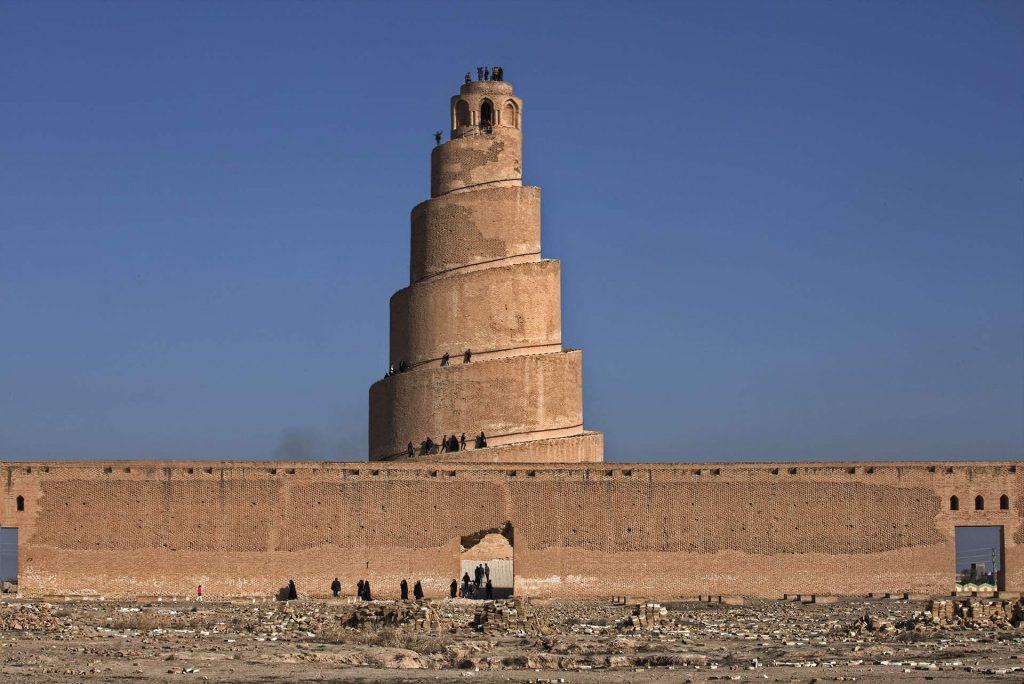Spiralminarett von Samarra - ein Vorbild für den Burj