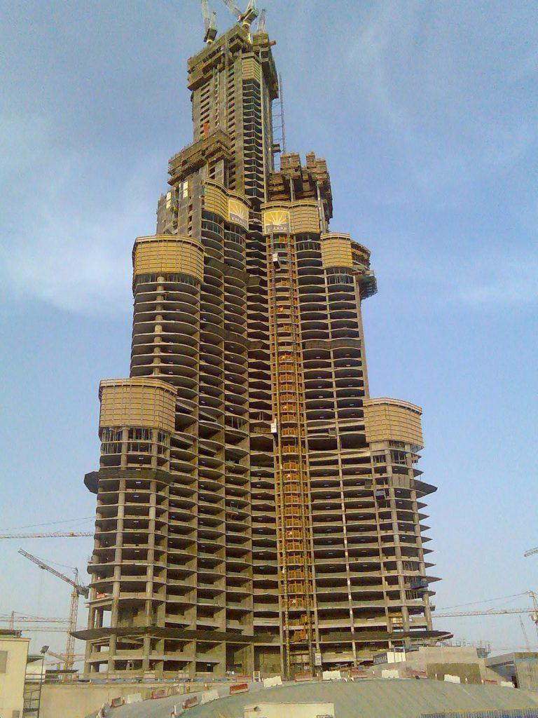 Burj Khalifa im Bau