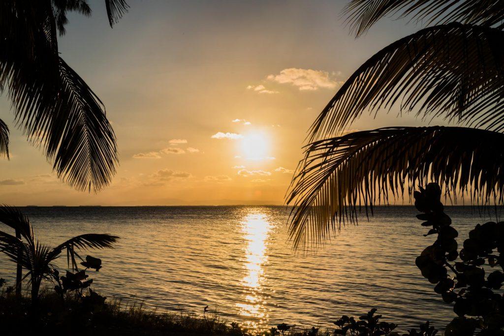 Sonnenuntergang im Belize Barrier Reef