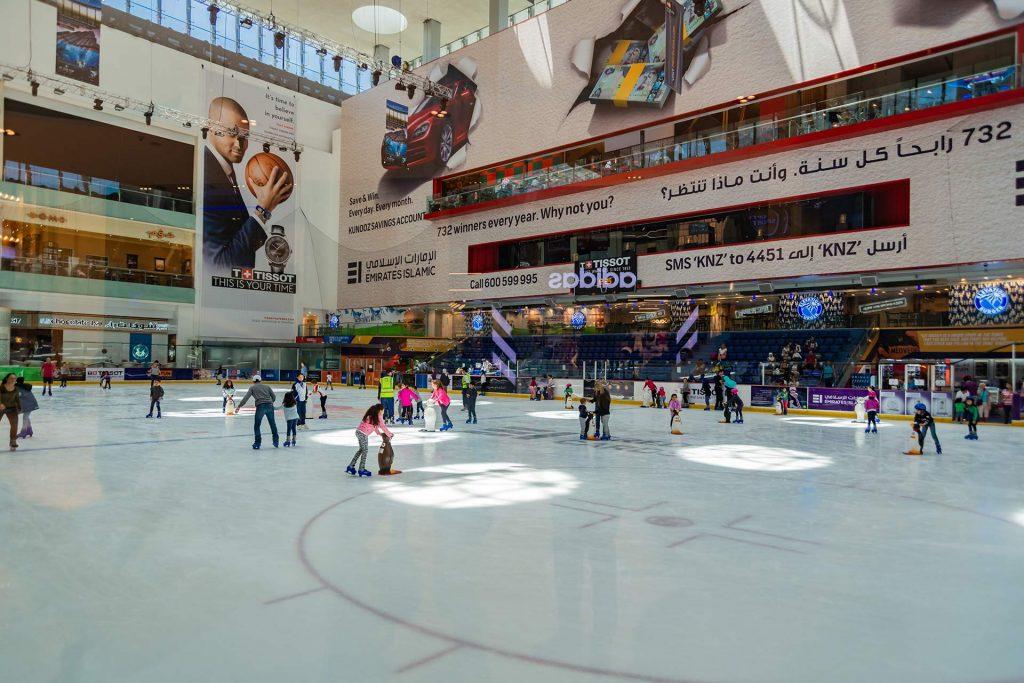 Eisbahn in der Dubai Mall