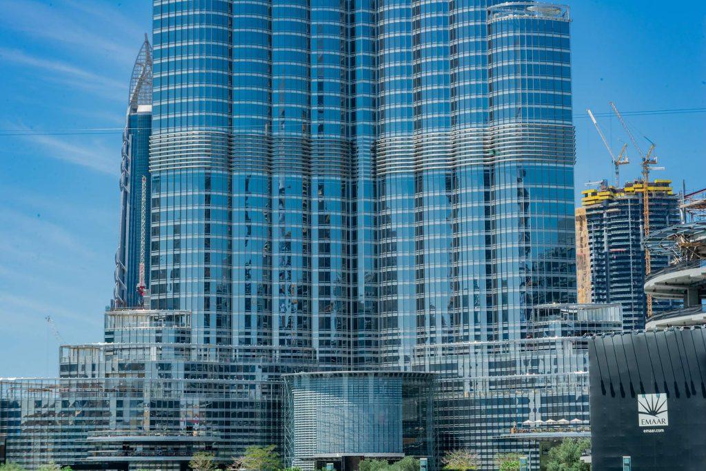 Glasfassade des Burj Khalifa