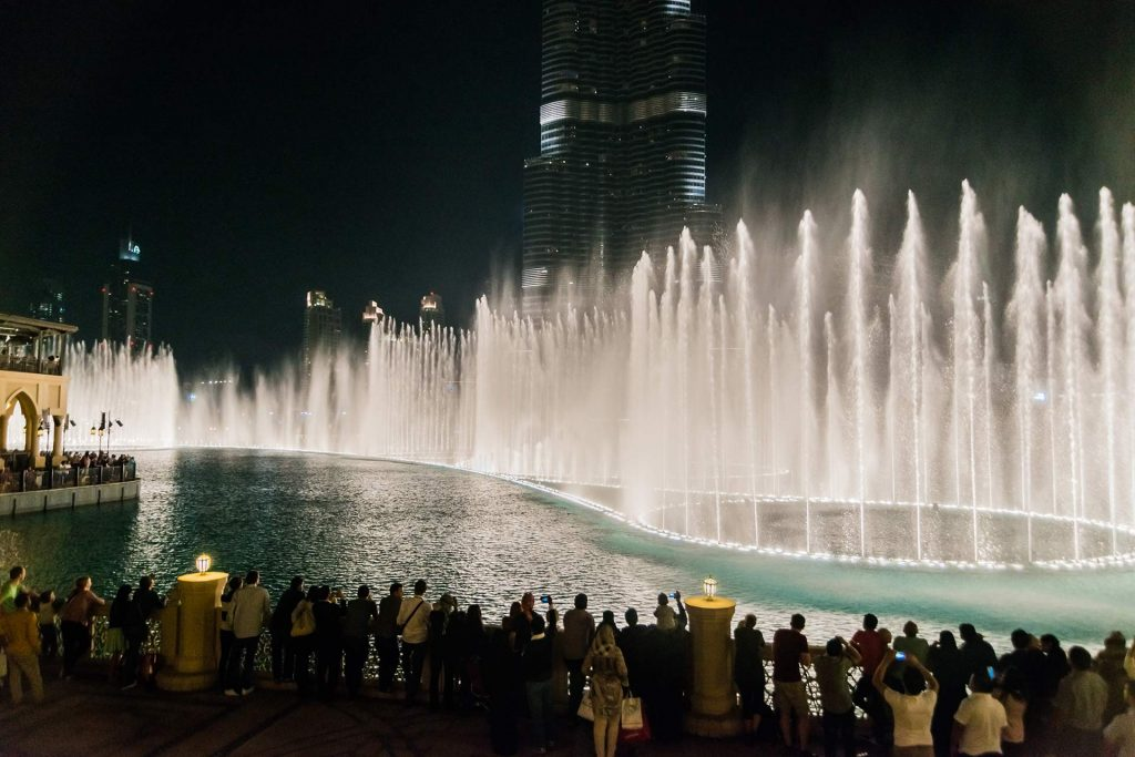 Wasserspiele in Dubai Downtown